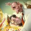 Путин и Медведев, шарж