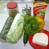 Салат «Пекинка в горошек»