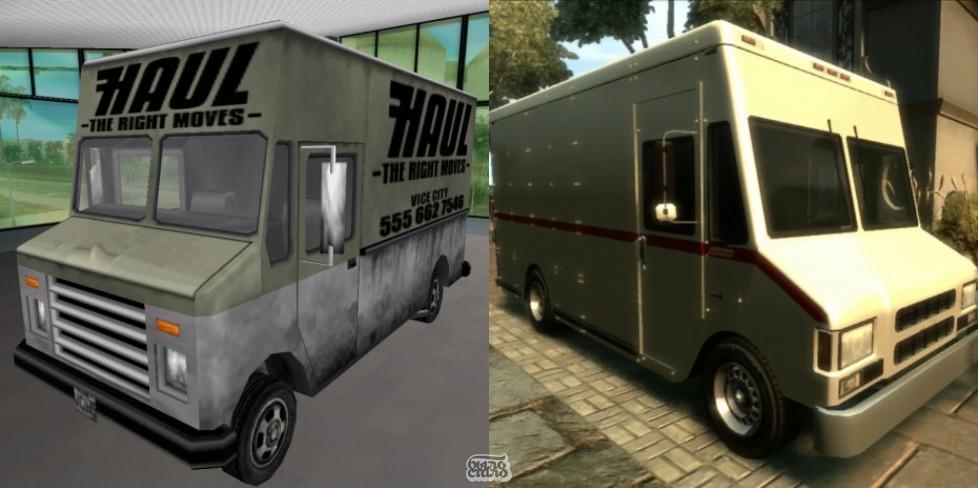 Автомобили в GTA:Boxville