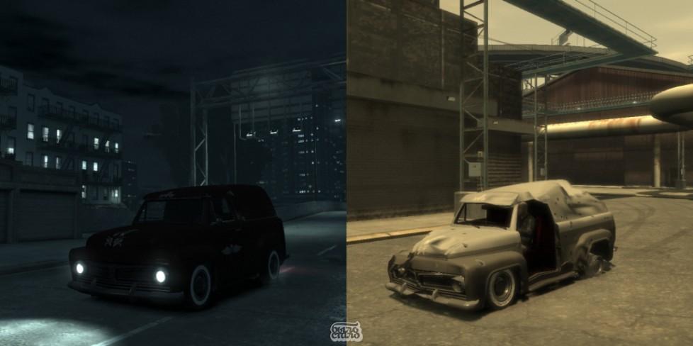 GTA IV TLAD:Slamvan crash test.