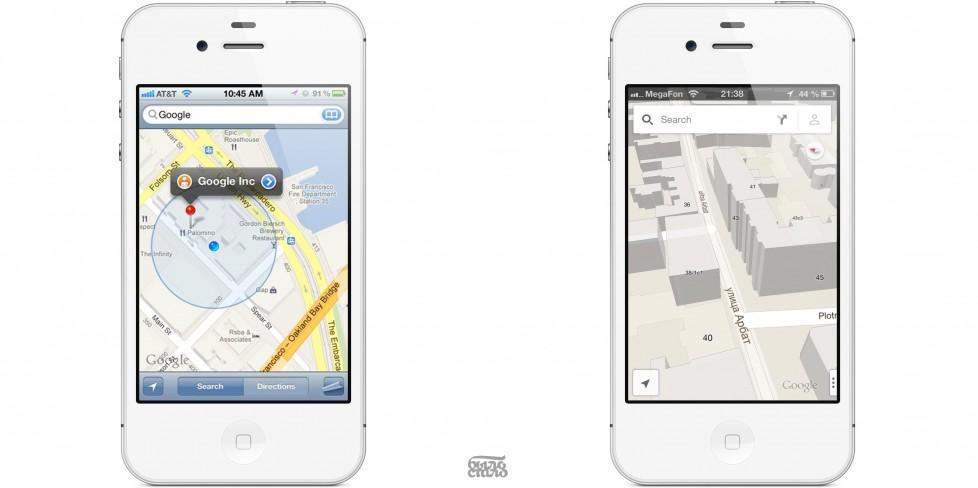 Google Maps возвращаются на iPhone