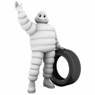 Талисман Michelin 1910 и современный талисман