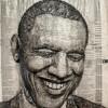 3D-портрет Барака Обамы из телефонной книги